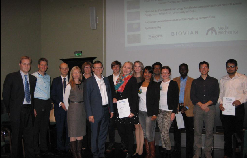 Finland_Jury and finalists of the biofinland pitching competition